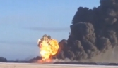 Massive explosion follows North Dakota train derailment, collision